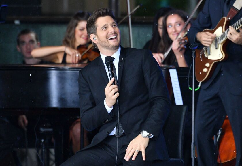 Michael Buble performs for a telivision program in Sydney, Australia - 04 Oct 2018