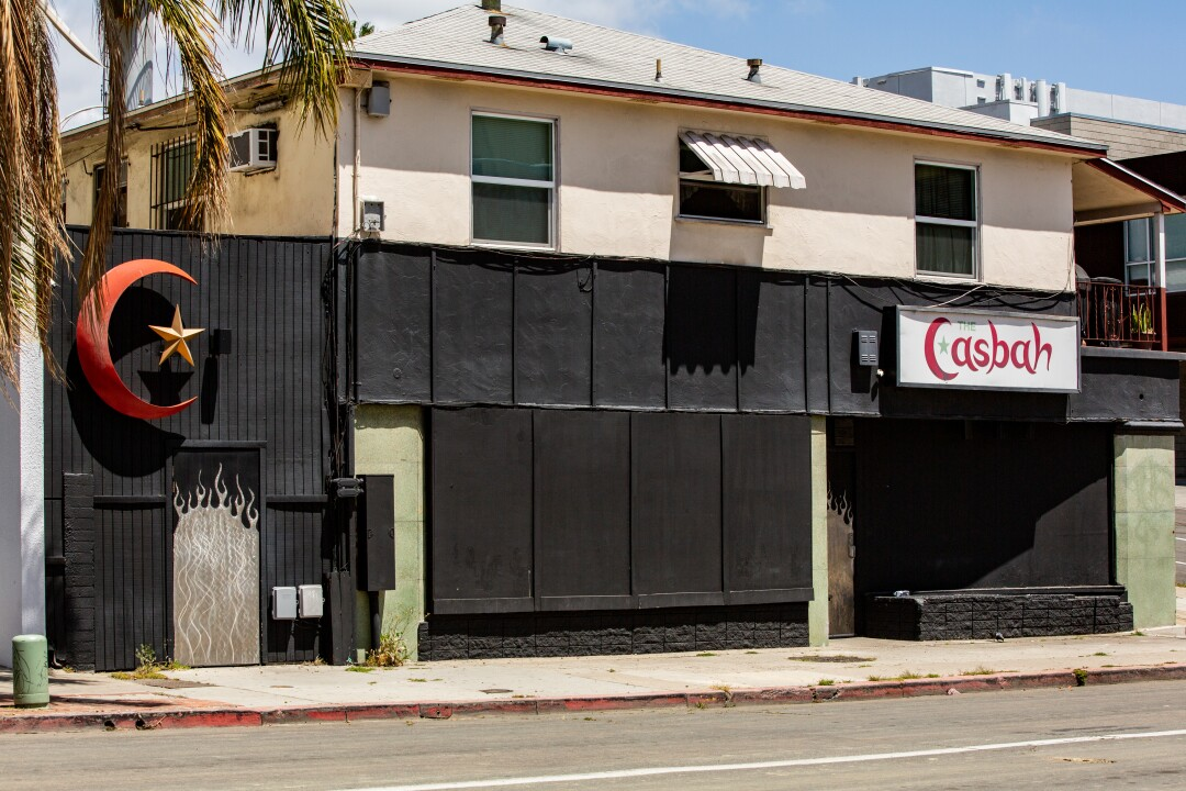 The Casbah, the fabled music venue, is shuttered during the coronavirus pandemic on May 14, 2020 in San Diego, California.