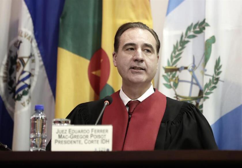 El presidente de la Corte Interamericana de Derechos Humanos (CorteIDH), el mexicano Eduardo Ferrer Mac-Gregor. EFE/Archivo