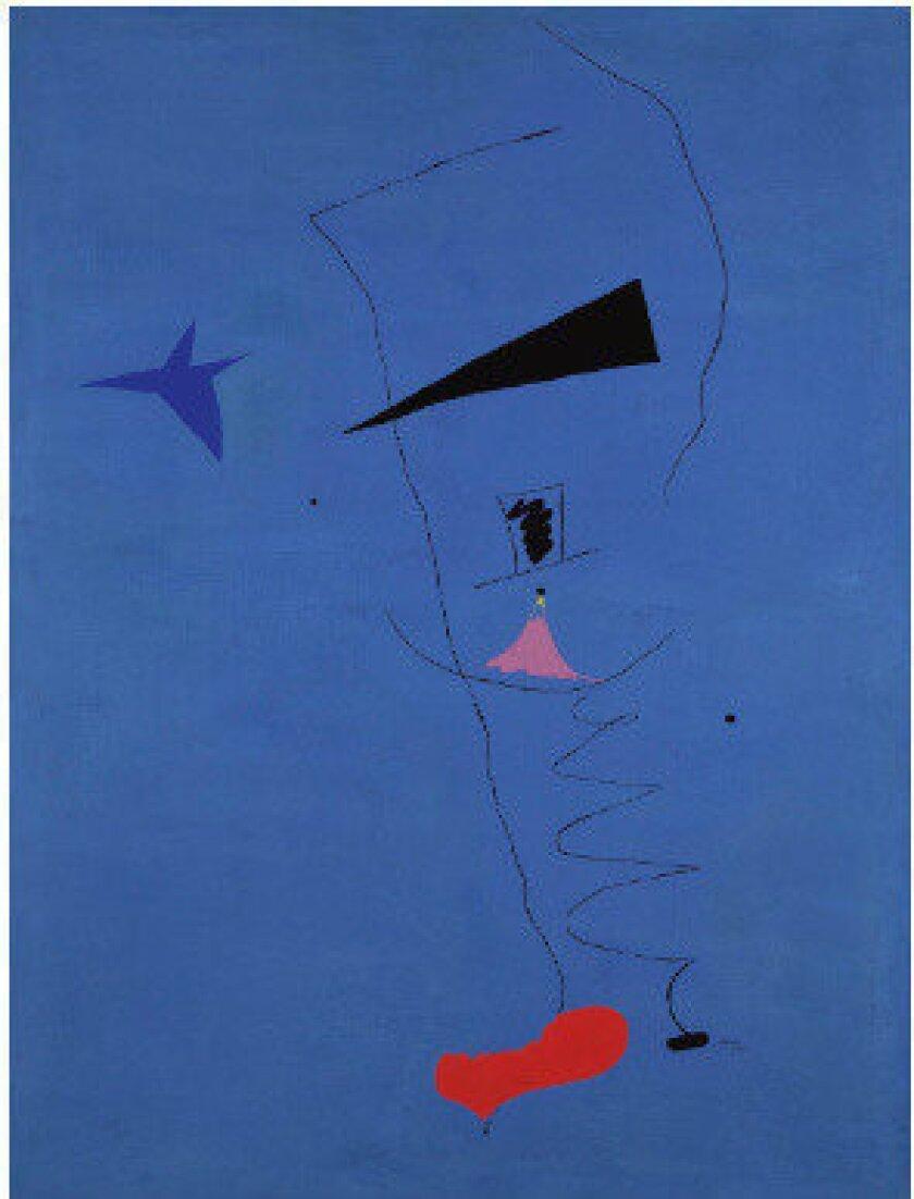 """Joan Miro's """"Peinture (Etoile Bleue)"""""""