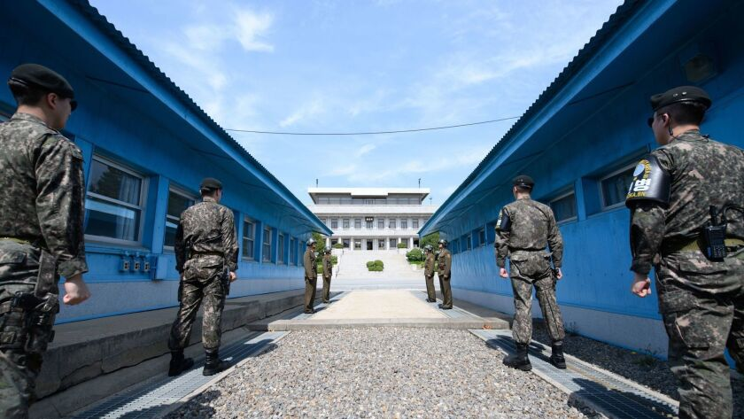 Preparations ahead of the Inter-Korea Summit, Paju, Republic Of - 26 Apr 2018