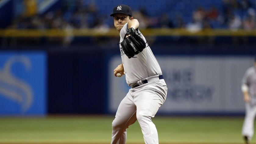 Adam Warren pitches for the Yankees in 2015.