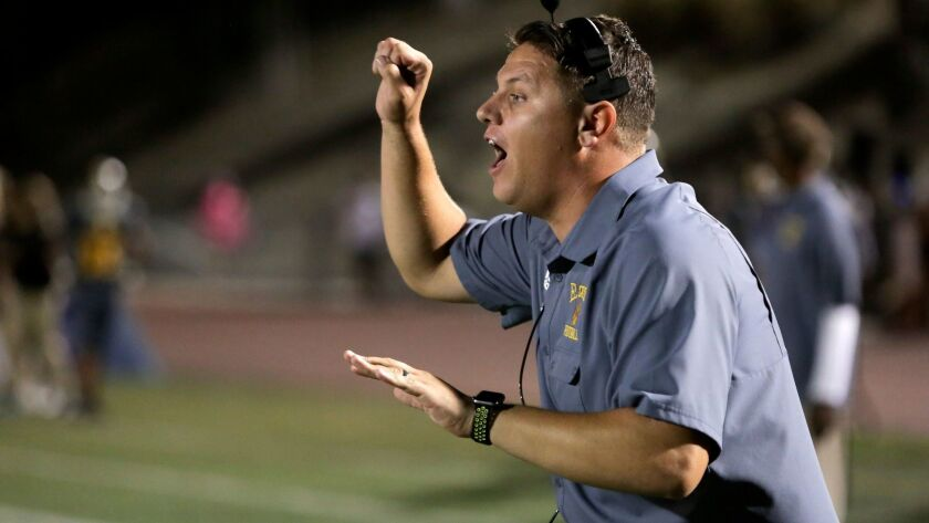 El Camino coach Michael Hobbs. photo by Bill Wechter