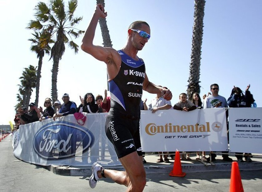 Australia native Matt Reed won the Ironman 70.3 California in Oceanside last April, one of 15 victories in the last two triathlon seasons.