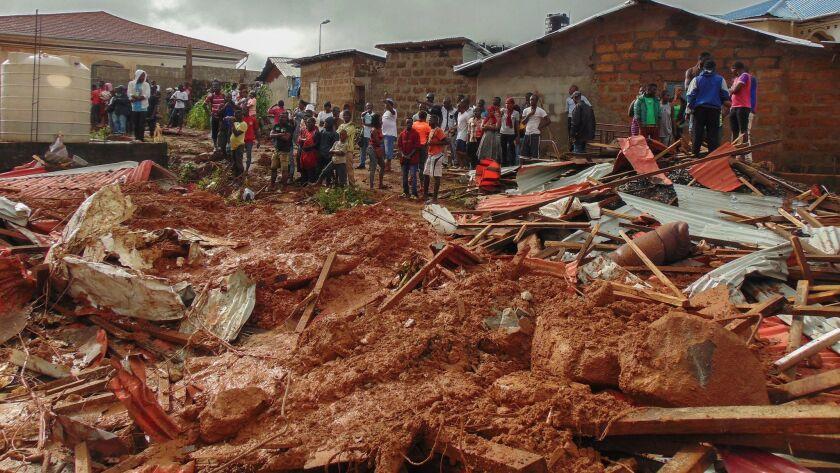 Mudslide kills hundreds in Sierra Leone