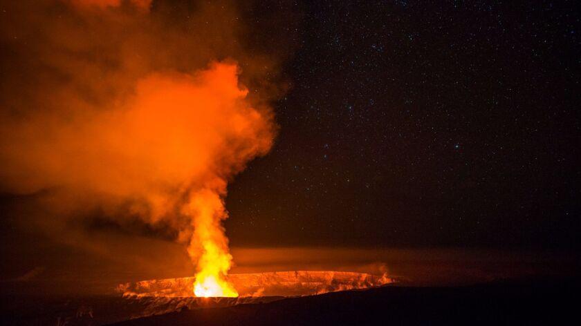 Halema'uma'u crater on Hawaii Island.