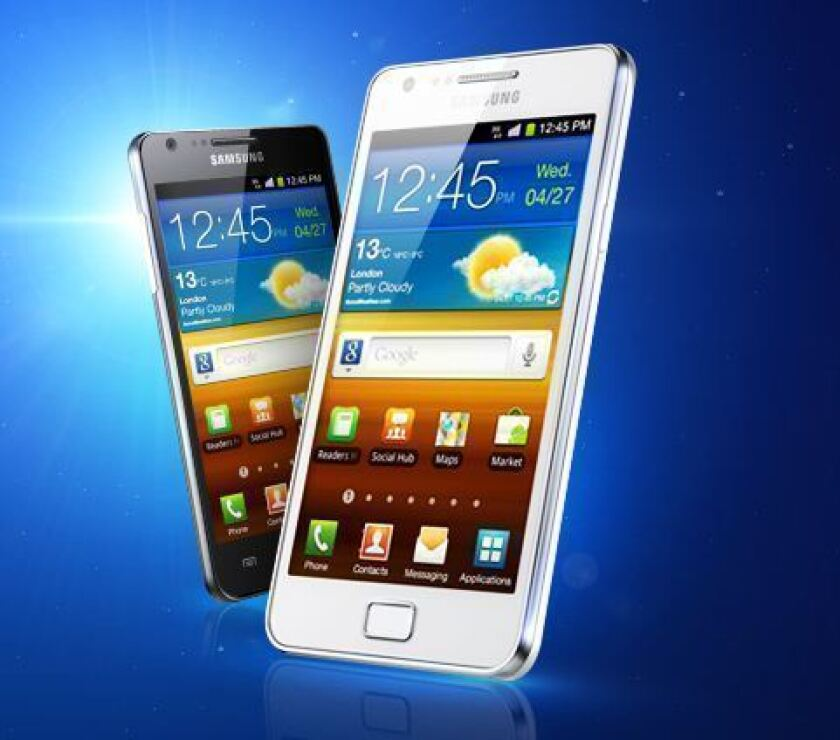 A Tokyo court found that Samsung's phones and a tablet computer didn't infringe on an Apple patent. Above, a Samsung Galaxy S II smartphone.
