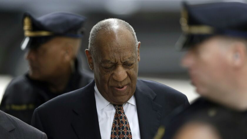 Bill Cosby arrives for his sexual assault trial Friday at the Montgomery County Courthouse in Norristown, Pa.