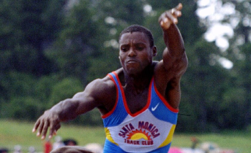 Olympic champion Carl Lewis.
