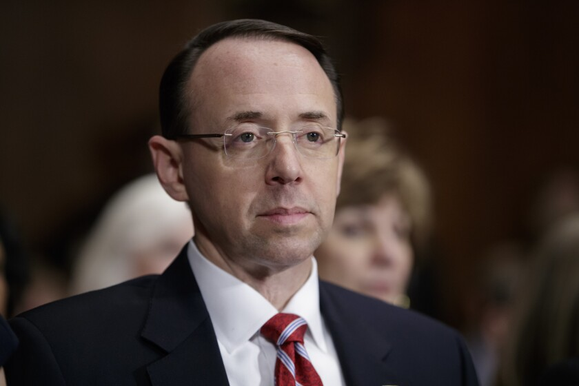 Rod Rosenstein, U.S. attorney for Maryland, is nominated to be deputy attorney general.