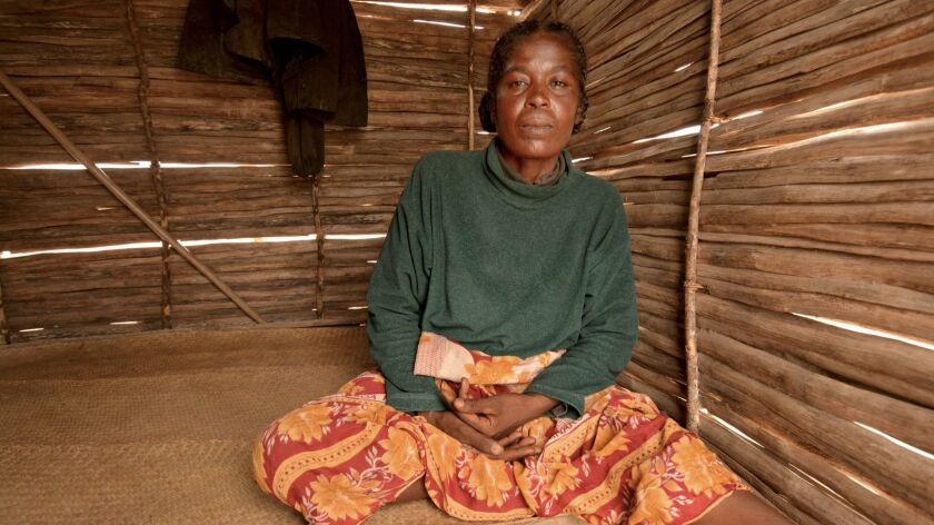 Zafesoa, 55, she is a single woman struggling to support eight children earning 30 cents a day as a