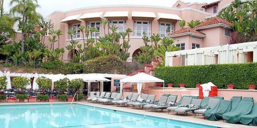 The Beverly Hills Hotel outdoor pool.