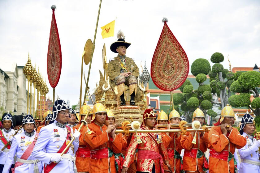 In this photo released by Thailand's Royal Public Relation Department, Thailand's King Maha Vajiralo