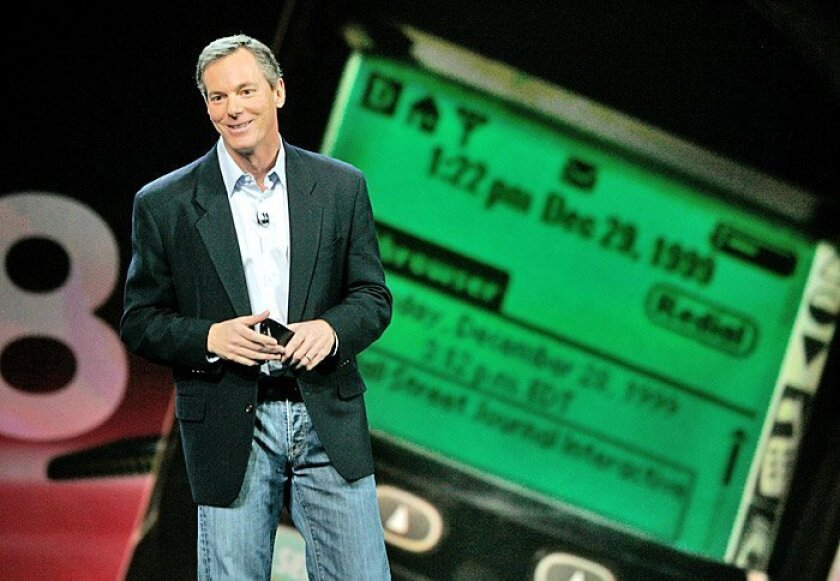 Keynote speaker Paul Jacobs, chairman and CEO of Qualcomm, touted the company's Swagg wireless-gift-card-and-transaction service while addressing attendees of the Consumer Electronics Show.