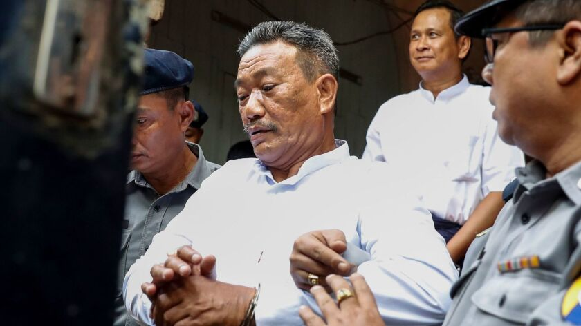 Myanmar court sentenced two to death for killing prominent Muslim lawyer, Yangon - 15 Feb 2019