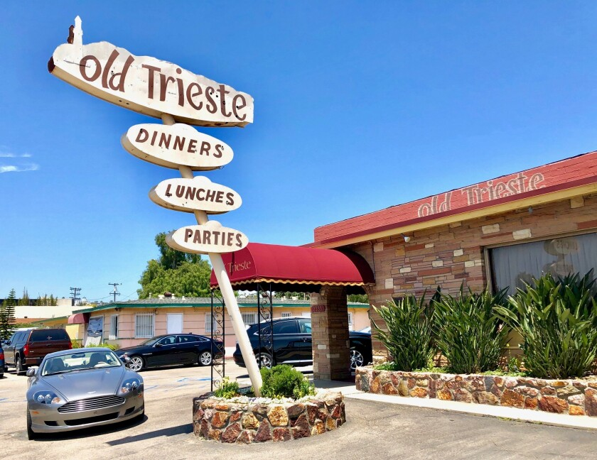 Old Trieste opened on Morena Boulevard in May of 1963 and closed in May of 2019 after 56 years of operation by the Tomicich family.