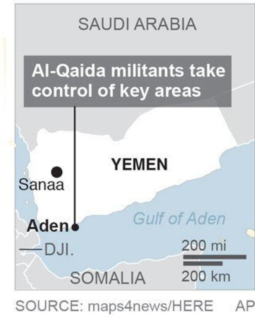Map locates Aden, Yemen; 1c x 2 inches; 46.5 mm x 50 mm;