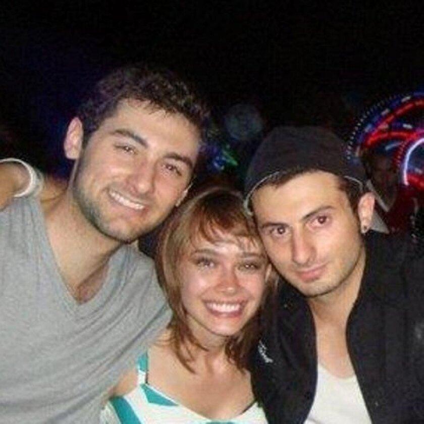 Facebook photo of (L-R) Gianni Belvedere, Ilona Flint and Salvatore Belvedere.