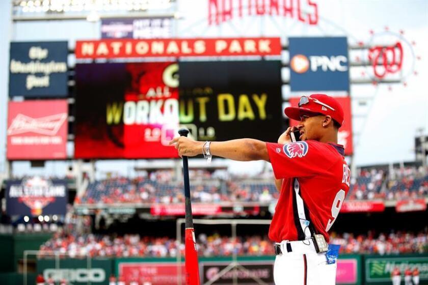 En la imagen, el segunda base puertorriqueño Javier Báez de los Cachorros de Chicago. EFE/Archivo