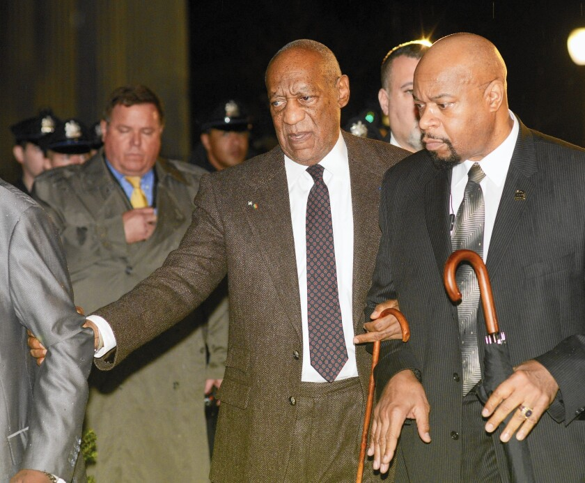 Bill Cosby leaves the Montgomery County Courthouse in Norristown, Pa., where he is accused of criminal sexual abuse, after a pretrial hearing on Feb. 3.