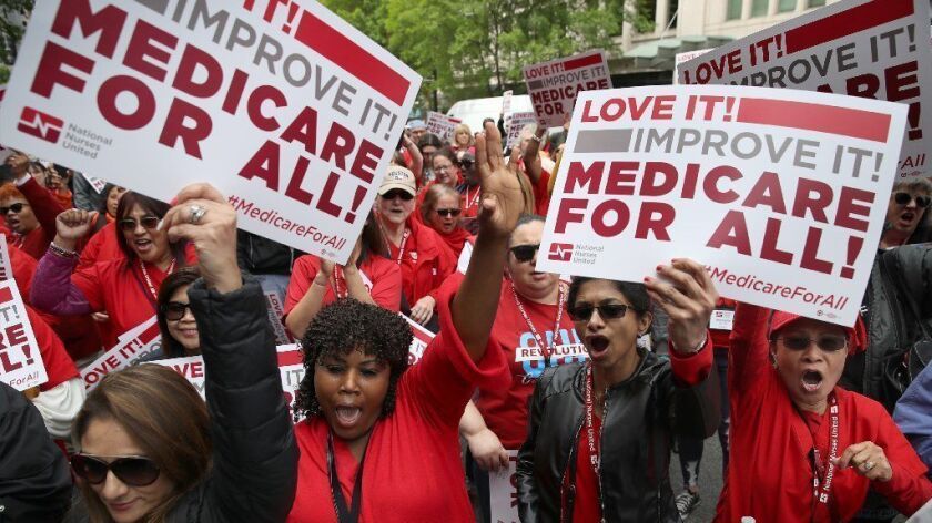 *** BESTPIX *** Progressive Democrats of America Hold A 'Medicare For All' Rally Outside PhRMA Headquarters