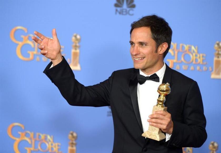 """El actor mexicano Gael García Bernal fue nominado hoy de nuevo a mejor actor en una serie de comedia o musical por su papel en """"Mozart in the Jungle"""" en los Globos de Oro, un galardón que ya se llevó el año pasado. EFE/ARCHIVO"""