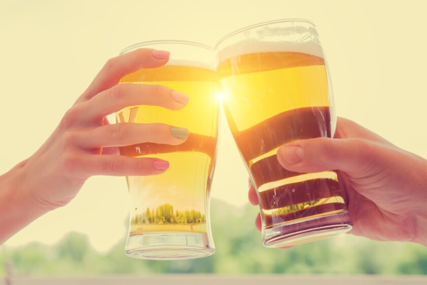 Crushable beer is light bodied and low in alcohol.
