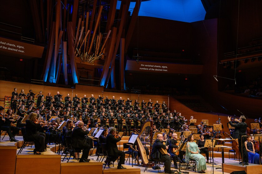 "The Los Angeles Master Chorale revives Osvaldo Golijov's ""Oceana"" in Disney Hall."