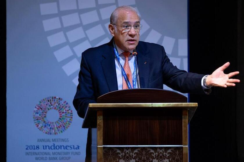 El secretario general de la Organización para la Cooperación y el Desarrollo Económicos (OCDE), José Ángel Gurria. EFE/Archivo