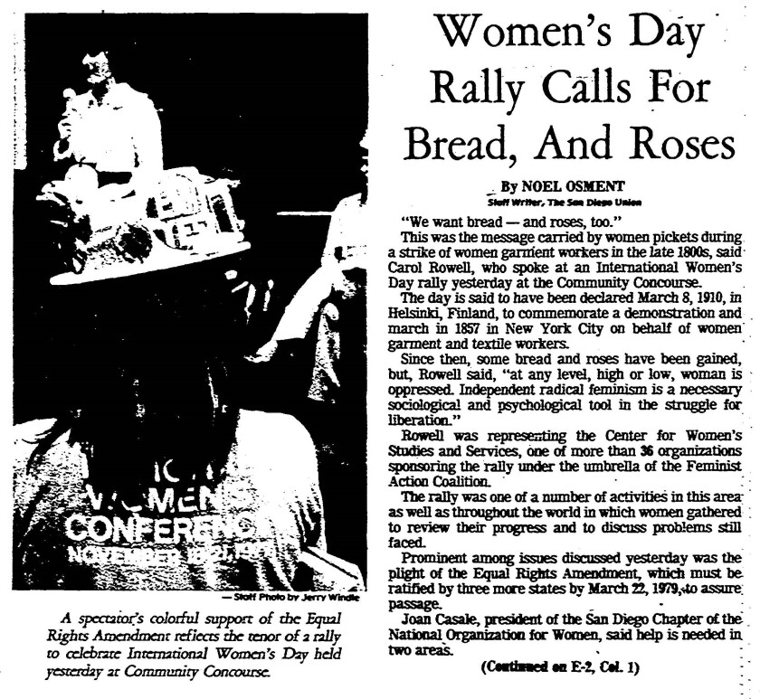 March 8, 1978 International Women's Day rally