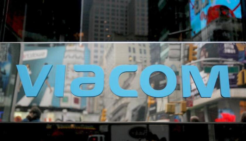 Vista del logotipo de Viacom en el Times Square de Nueva York. EFE/Justin Lane/Archivo