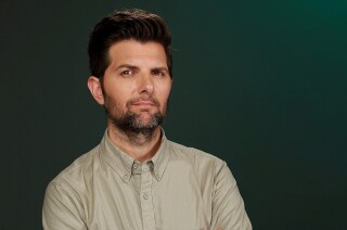 """Adam Scott starred in """"Nightmare at 30,000 Feet,"""" an episode of the CBS All Access reboot of """"The Twilight Zone"""" that is modeled after the popular original """"Nightmare at 20,000 Feet."""""""