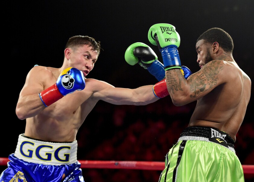 Gennady Golovkin makes his power move against Dominic Wade
