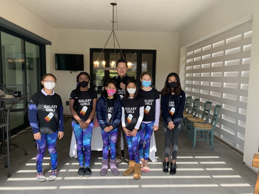 The Galaxy Girls from Solana Ranch Elementary School recently took fourth place at a FLL qualifying tournament.
