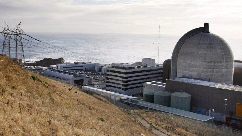 Pacific Gas & Electric's Diablo Canyon plant near Avila Beach has California's last operating nuclear reactors.