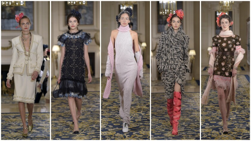 Looks from Chanel's 2017 Métiers d'Art collection.
