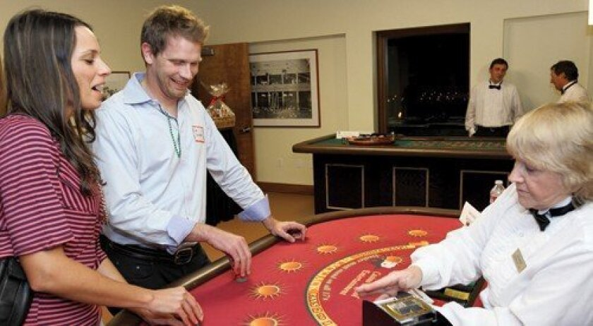 Marni and Jon Granston at the blackjack table (Photo: Jon Clark)