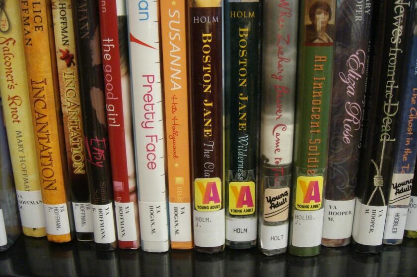 YA books in a library.