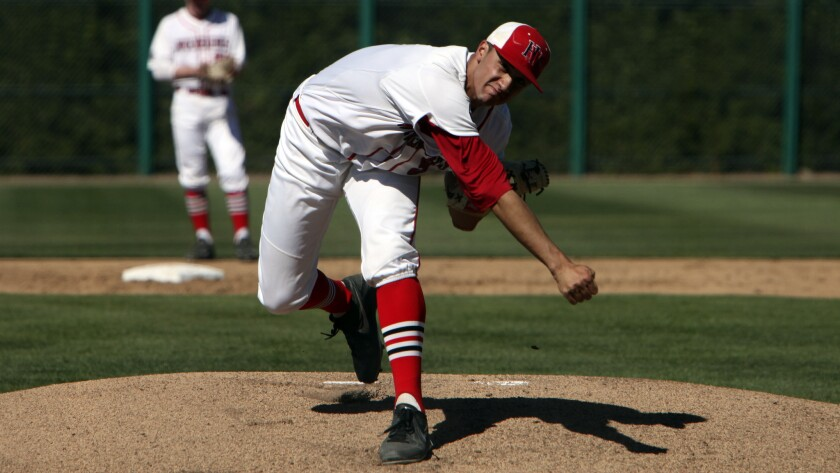 Harvard-Westlake pitcher Jack Flaherty delivers during a game against Alemany in April. Flaherty has committed to the University of North Carolina.
