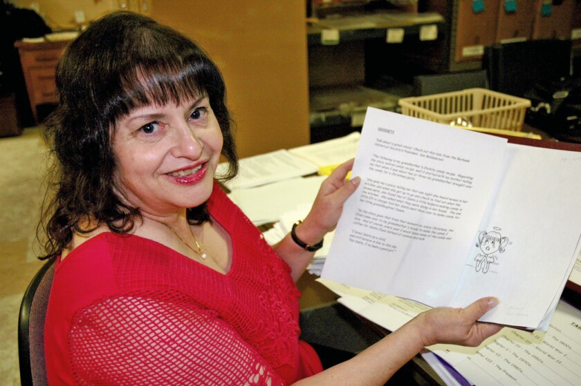 """Susan Hodgson is the editor and illustrator of the new """"Burbank Historical Cookbook"""" that will be unveiled during a release party and taste off at 2 p.m. Feb. 7 at the Burbank Museum."""