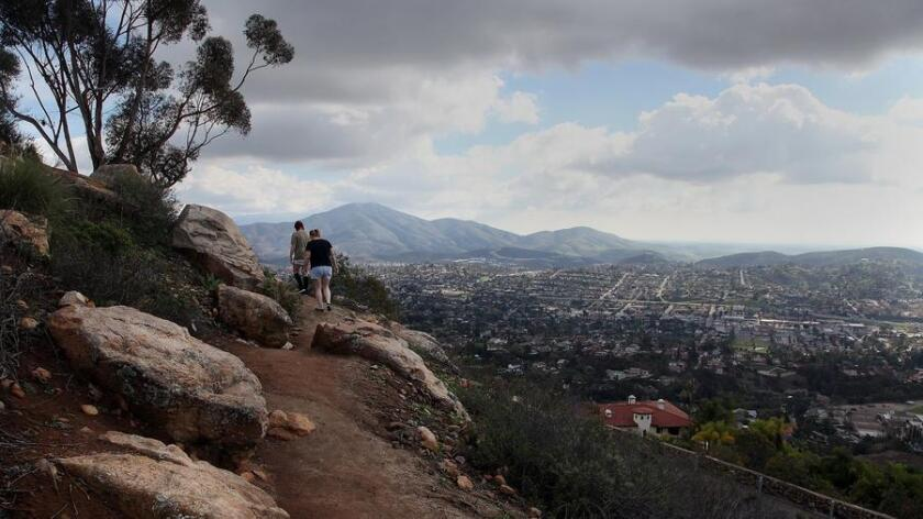 The Yawkey trail that rings Mt. Helix in La Mesa offers some spectacular views of the county and it's only 20 minutes from downtown San Diego. (John Gastaldo)