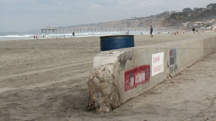 Deteriorating beach accesses and 'eyesore' trashcans