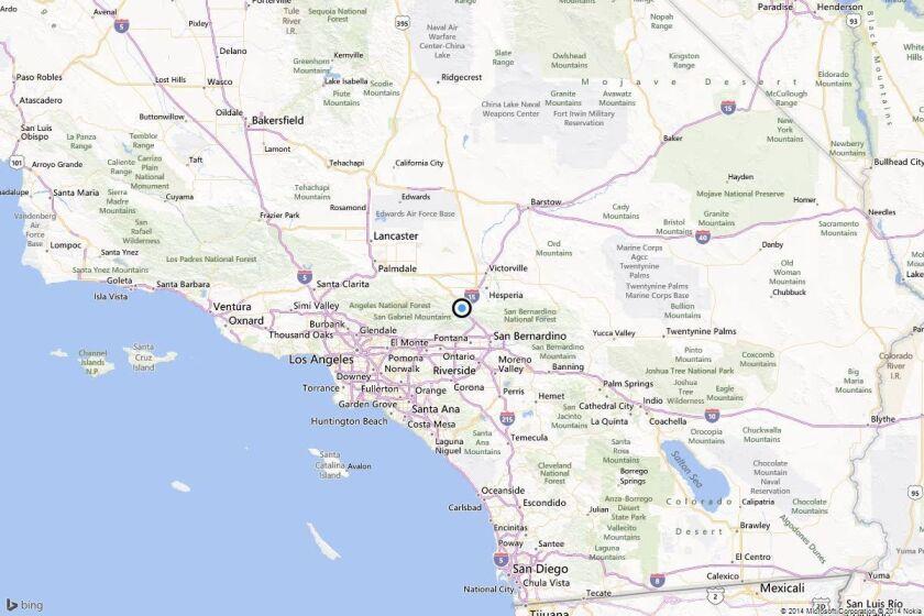 Earthquake: 3.6 quake strikes near Oak Hills