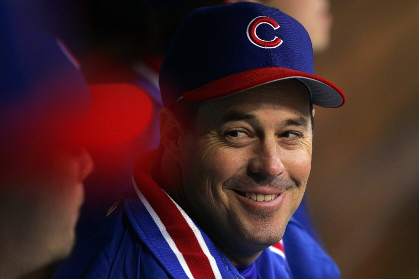 Greg Maddux playing for the Cubs against the Padres.