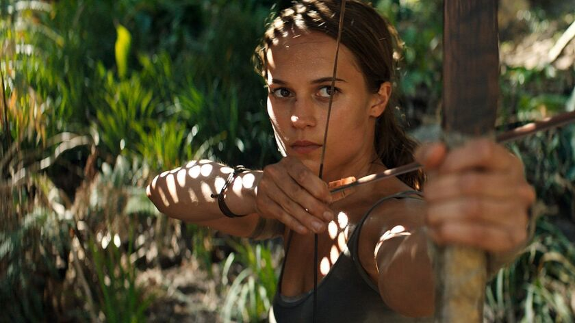 """Alicia Vikander portray Lara Croft in """"Tomb Raider,"""" which grossed $41.5 million in its opening weekend in China."""