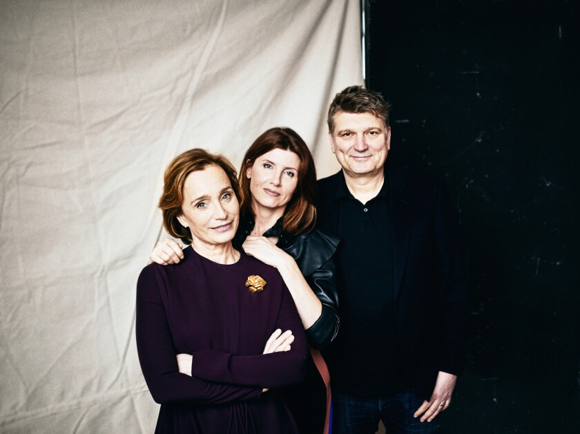 """Actress Kristin Scott Thomas, Sharon Horgan and director Peter Cattaneo joined forces for """"Military Wives."""""""