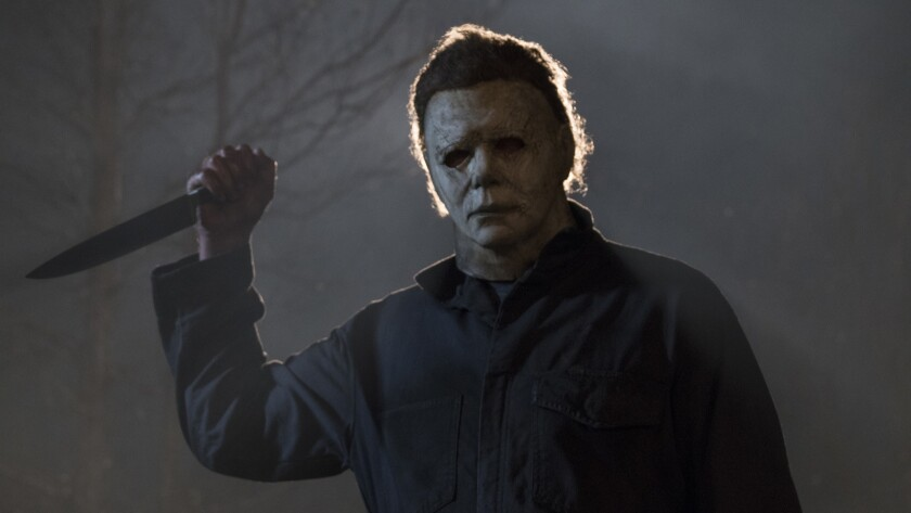 "Nick Castle as Michael Myers in a scene from 2018's ""Halloween."""