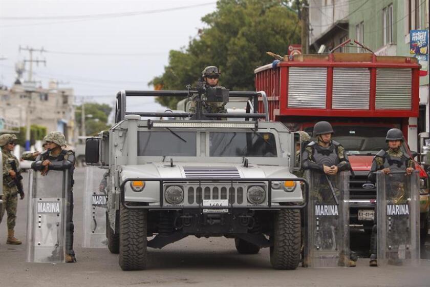 Miembros de la Marina de México realizan un operativo en Ciudad de México (México). EFE/Archivo