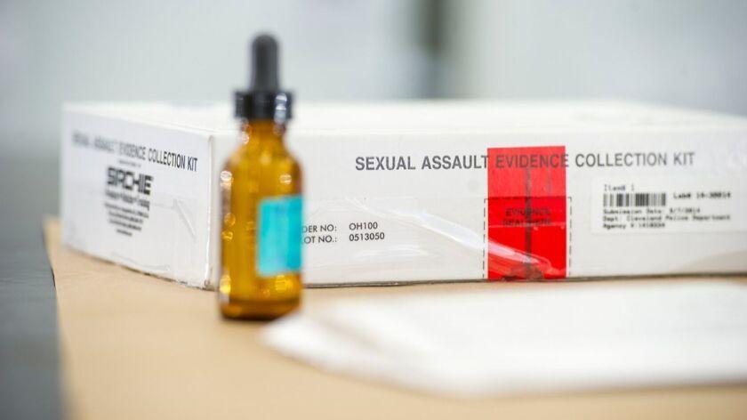 Rape evidence collection kit