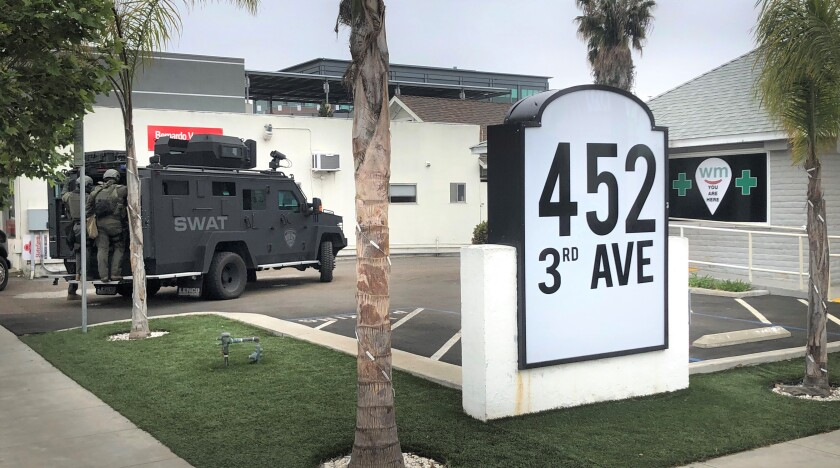Chula Vista police on Friday seized marijuana and cannabis-infused items from Cannavista, a medical marijuana dispensary authorities said was operating without a permit.